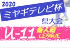 【大会方式変更】2020年度 ミヤギテレビ杯新人大会 (宮城県)  若林ブロック予選