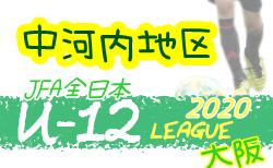 2020年度 全日本少年サッカー大会(全日リーグ)U-12 中河内地区 大阪 9/12結果掲載!