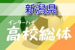 【大会中止】2020年度 第73回新潟県高校総体サッカー競技(男子) 5月開催