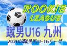 2020年度 球蹴男児U-16リーグ 9/27迄の結果掲載! 次回10/10.11