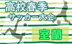 2020年度 室蘭地区高等学校サッカー春季大会(北海道)組合せ掲載!4/18~25開催!