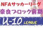 【中止】2020年度 NFAサッカーリーグ U-10 奈良ブロック 前期(奈良県) コロナウィルス感染拡大防止の為、中止!