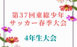 【中止】2020年度 第37回東総少年サッカー春季大会4年生  4/12.19開催
