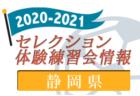 2020-2021 【山形県】セレクション・体験練習会 募集情報まとめ