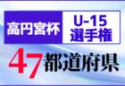 【2020高円宮杯U-15】全日本ユースU-15サッカー選手権大会(代表決定戦,プレーオフ)【47都道府県別】