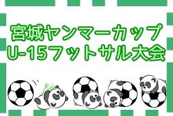 2020年度 第7回宮城ヤンマーカップU-15フットサル大会 7/11,7/12開催!組合せ情報募集