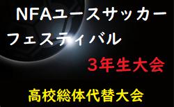 【高校総体代替大会】2020年度 NFAユースサッカーフェスティバル 3年生大会 (奈良県開催) 7/11,12結果速報!