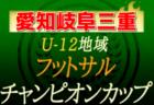 2020年度 U-12地域フットサルチャンピオンズカップ 8/1~愛知県大会・岐阜県大会・8/22,23三重県大会開催!