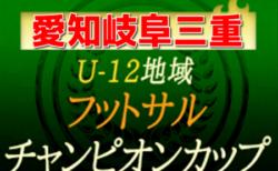 2020年度 U-12地域フットサルチャンピオンズカップ  愛知県大会 次回8/22,23、三重県大会8/22,23・岐阜県大会開催!