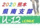 2020白山・石川地区少年サッカーリーグin石川県(U-12前期)試合結果情報募集!