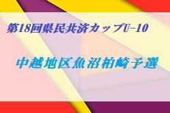 2020年度 第18回県民共済カップU-10 中越地区魚沼柏崎ブロック予選 (新潟県) 7/11.12開催