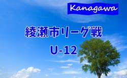 2020年度 綾瀬市リーグ戦U-12 (神奈川県) 組合せ掲載&リーグ戦表作成しました!7/23開幕!
