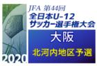 2020年度 U-12リーグ第44回全日本少年サッカー大会 北河内地区予選  中央大会出場3チーム決定!残り2チームはトーナメント実施中!