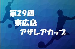 2020年度 第29回東広島アザレアカップ  優勝は世羅!