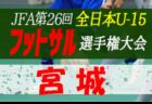 2020年度河北カップ・JFA全日本U-15フットサル選手権 宮城県大会 優勝はMESSE宮城FC!