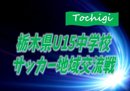 2020年度 栃木県U15中学校サッカー地域交流戦 8/2決勝トーナメント組合せ掲載!結果情報をお待ちしています!