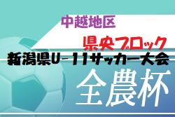 2020年 第28回新潟県U-11サッカー大会 中越地区県央ブロック予選 8/29.30開催!組合せ掲載