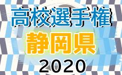 2020年度 第99回全国高校サッカー選手権 静岡県大会 1次トーナメント準決勝  1次トーナメント決勝9試合 10/24組み合わせ!