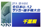速報!2020年度JFA第44回全日本U-12サッカー選手権大会千葉県大会 優勝はジェフユナイテッド市原・千葉U-12(初)!全国大会へ
