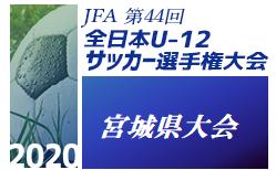 【優勝チームコメント掲載】2020年度 JFA第44回全日本U-12サッカー選手権大会宮城県大会 優勝はベガルタ!
