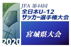 2020年度 JFA第43回全日本U-12サッカー選手権大会宮城県大会  大会詳細・日程お待ちしています。