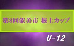 2020年度 第8回能美市 根上カップジュニアサッカー大会(U-12)石川 組合せ掲載!8/15,16開催!