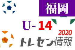 JFAトレセン福岡 福岡地区U-14 研修会 9/7開催 2020年度 福岡