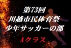 2020年度 第25回埼玉県女子ユースU-15 サッカー大会 結果速報9/27
