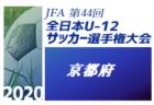 2020年度 JFA第44回全日本U-12 サッカー選手権京都府大会 優勝は京都長岡京SS G!大会2連覇!