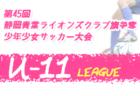 2020年度 第45回静岡青葉ライオンズクラブ旗争奪少年少女サッカー大会 U-10リーグ   LeagueA優勝は南部SSS!その他のリーグ最終結果お待ちしています