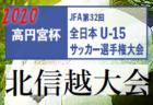 2020年度 JFA 第32回全日本U-15サッカー選手権大会 北信越大会 11/3開幕!組合せ情報掲載