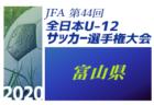 2020年度 JFA第44回全日本U-12 サッカー選手権福井県大会 10/31結果速報
