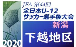 2020年度 JFA 全日本U-12サッカー選手権大会 下越予選(新潟)Bブロック予選掲載!次回9/19 続報募集!