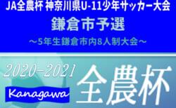 2020年度 5年生鎌倉市内8人制大会・チビリン予選 ルベントと関谷がベスト4進出!! 9/22 1・2回戦結果更新!準決勝・決勝は10/17開催!