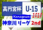 高円宮杯JFA U-15サッカーリーグ2020 神奈川 2ndステージ 9/26,27結果速報!情報をお待ちしています!