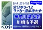 2020年度 高円宮杯 JFA U-15サッカーリーグ 四国クローバーリーグ 結果速報10/24