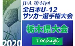 2020年度 全日本U-12サッカー選手権 栃木県大会 11/1開幕!1・2回戦組合せ掲載!3回戦・準々決勝は11/3開催!