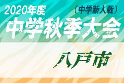 2020年度 八戸市中学校サッカー秋季新人大会(青森県)結果掲載!優勝は白山台中!