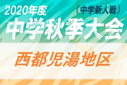 2020年度第44回宮崎県中学校秋季体育大会サッカー競技 西都児湯地区  結果速報おまちしています。9/27準決勝・決勝