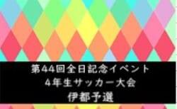 2020年度 第44回全日本少年サッカー大会記念イベント4年生サッカー大会 伊都予選 9/5,13判明分結果 次戦の情報提供お待ちしています