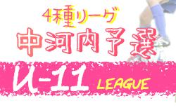 2020年度 4種リーグU-11 中河内地区 大阪 9/22結果速報!
