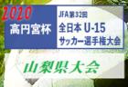 2020年度 JFA第24回全日本U-18女子サッカー選手権大会 京都府予選  優勝はバニーズ京都SC flaps