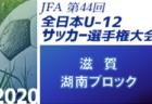 2020年度 JFA第44回全日本U-12 サッカー選手権埼玉県 東部地区予選 県大会出場チーム決定!
