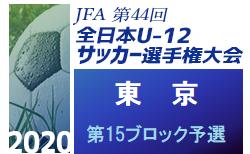 2020年度 JFA第44回全日本少年サッカー選手権大会 東京大会 第15ブロック予選 9/27結果掲載!次回日程募集!