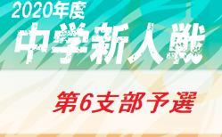 2020年 第64回東京都【第6支部】中学校サッカー新人戦ブロック大会 (東京)組合せ・日程お待ちしています。各区予選情報掲載