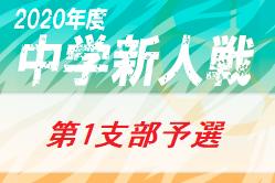 2020年 第64回東京【第1支部】中学校サッカー新人戦ブロック大会 都大会出場4校決定!