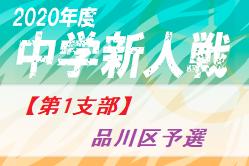 2020年 第64回東京都【第1支部】中学校サッカー新人戦 品川区予選 優勝は東海中!