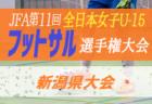 2020年度 JFA第11回全日本U-15女子フットサル選手権大会新潟県大会 組合せ募集!10/24.25開催