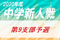 2020年 第64回東京都【第9支部】中学校サッカー新人戦ブロック大会 10月~開催!組み合わせ掲載
