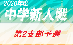 2020年 第64回東京都【第2支部】中学校サッカー新人戦ブロック大会 (東京)11/3結果速報 組合せ掲載